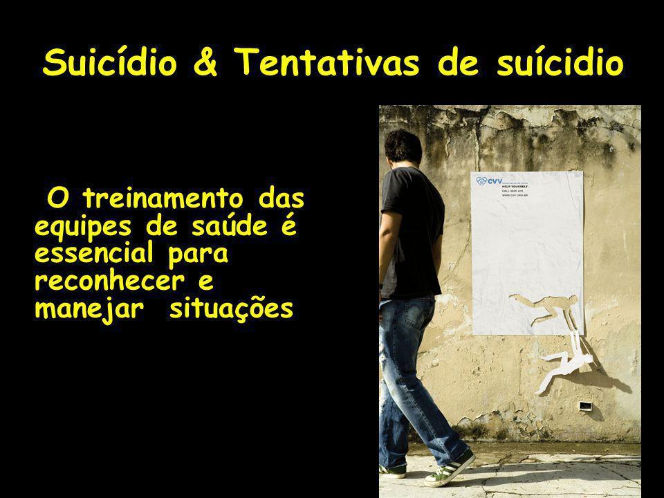 Suicídio & Tentativas de suícidio O treinamento das equipes de saúde é essencial para reconhecer e manejar situações