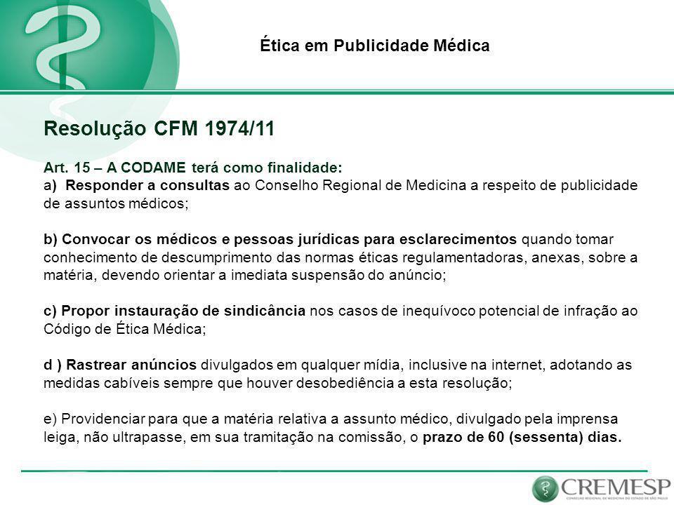 Ética em Publicidade Médica Existe regulamentação para a publicidade médica na Internet.