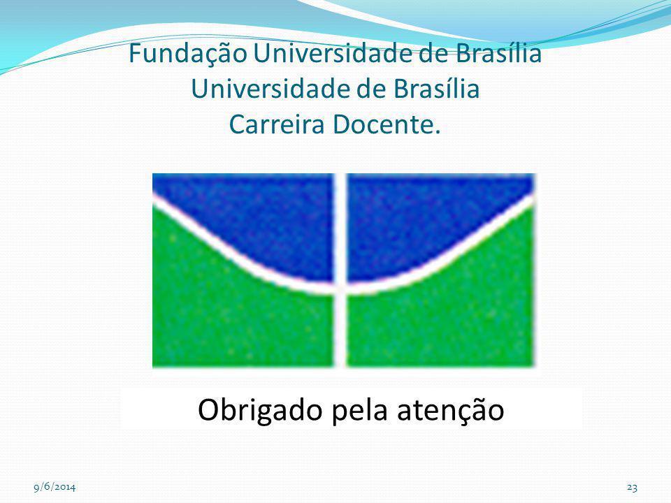 Fundação Universidade de Brasília Universidade de Brasília Carreira Docente. 9/6/201423 Obrigado pela atenção