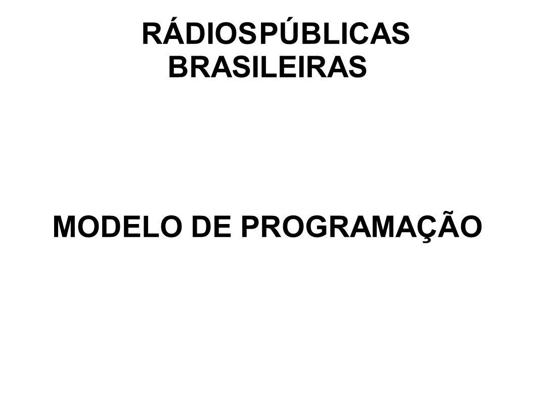 RÁDIOS PÚBLICAS BRASILEIRAS MODELO DE PROGRAMAÇÃO