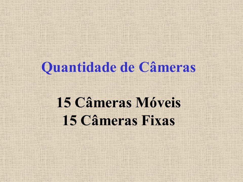 Quantidade de Câmeras 15 Câmeras Móveis 15 Câmeras Fixas