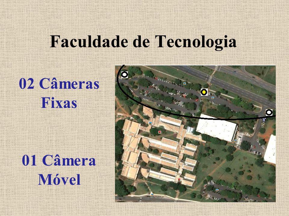 Faculdade de Tecnologia 02 Câmeras Fixas 01 Câmera Móvel