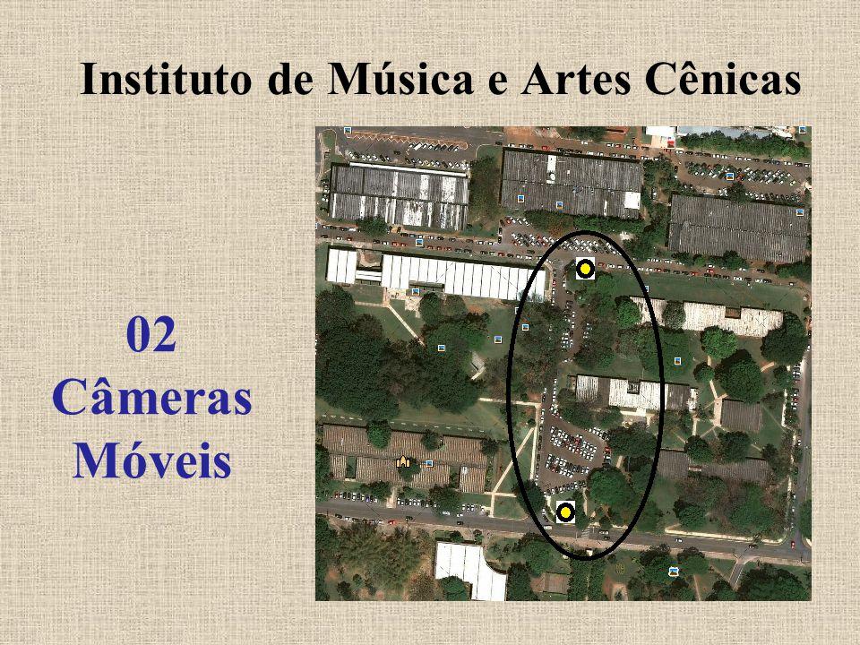 Biblioteca e Reitoria 03 Câmeras Fixas e 02 Câmeras Móveis