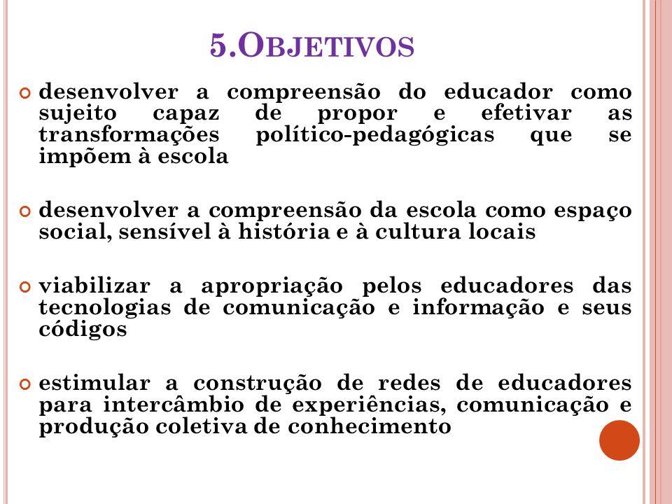 6.M ETODOLOGIA Integração dos saberes hoje reconhecidos como essenciais: 1.