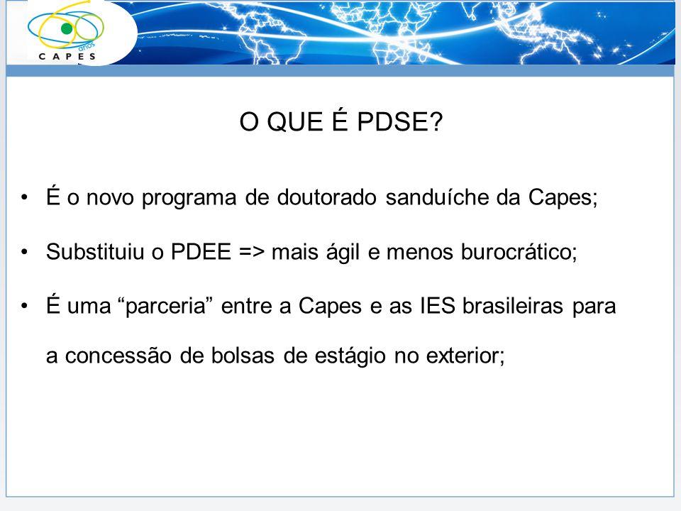 É o novo programa de doutorado sanduíche da Capes; Substituiu o PDEE => mais ágil e menos burocrático; É uma parceria entre a Capes e as IES brasileir