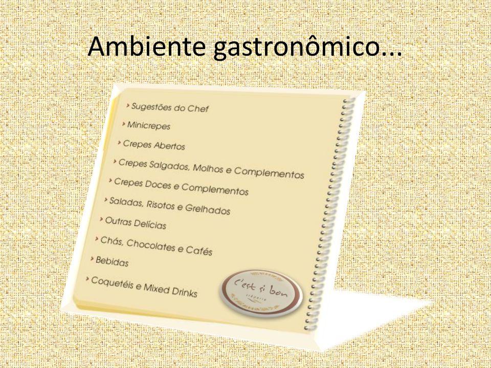 Ambiente gastronômico...