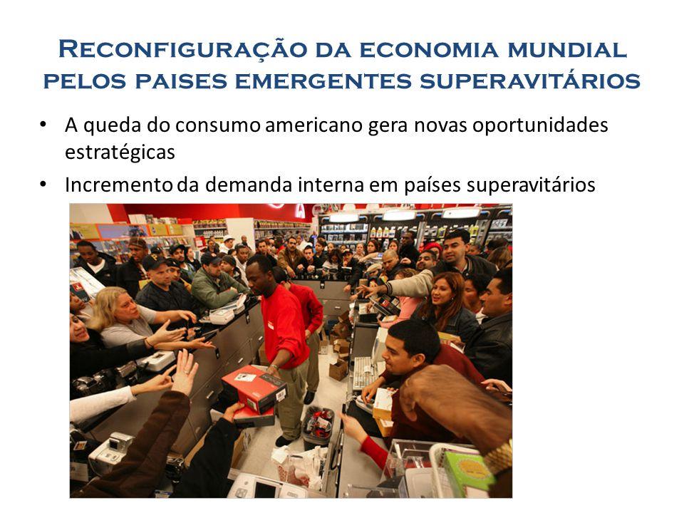 Reconfiguração da economia mundial pelos paises emergentes superavitários A queda do consumo americano gera novas oportunidades estratégicas Increment