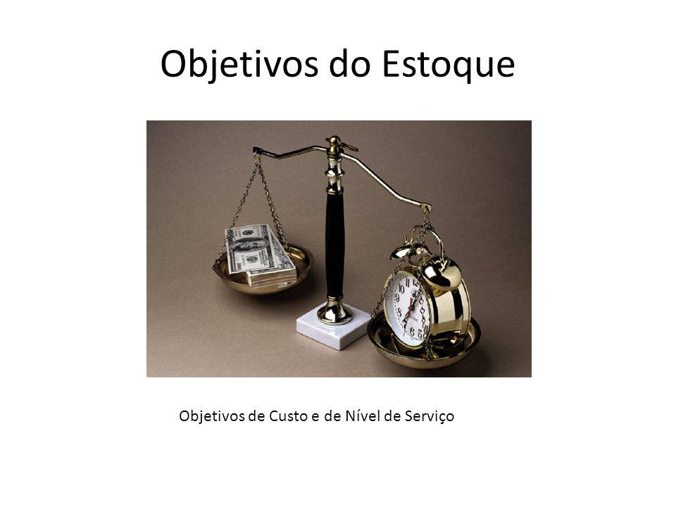 Objetivos do Estoque Objetivos de Custo e de Nível de Serviço