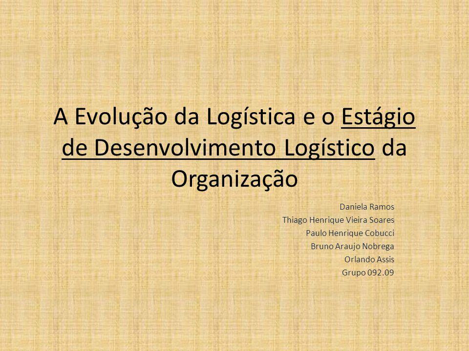 A Evolução da Logística e o Estágio de Desenvolvimento Logístico da Organização Daniela Ramos Thiago Henrique Vieira Soares Paulo Henrique Cobucci Bru