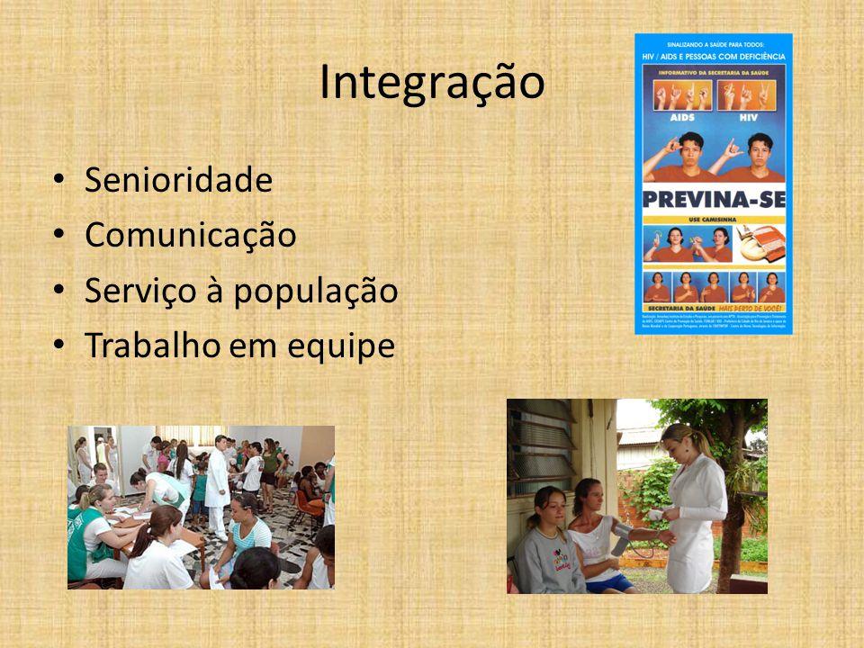 Integração Senioridade Comunicação Serviço à população Trabalho em equipe