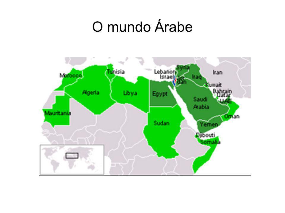 Escalas geográficas Global: controle geopolítico do petróleo, governos pró-ocidentais Regional: aspectos que diferencia o mundo árabe dos outros mundos (língua: árabe; religião: muçulmana).
