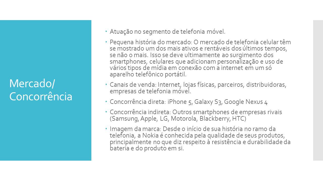 Mercado/ Concorrência Atuação no segmento de telefonia móvel. Pequena história do mercado: O mercado de telefonia celular têm se mostrado um dos mais