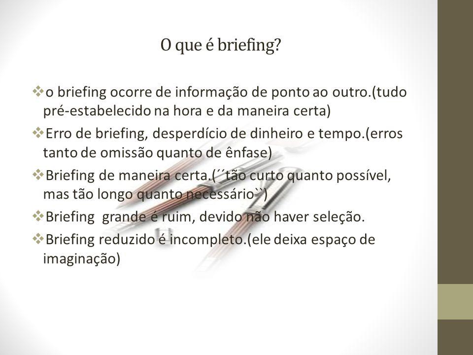 O que é briefing.