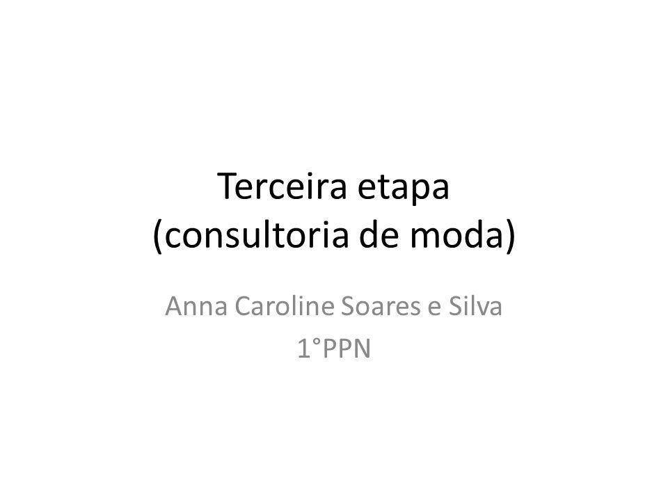Terceira etapa (consultoria de moda) Anna Caroline Soares e Silva 1°PPN