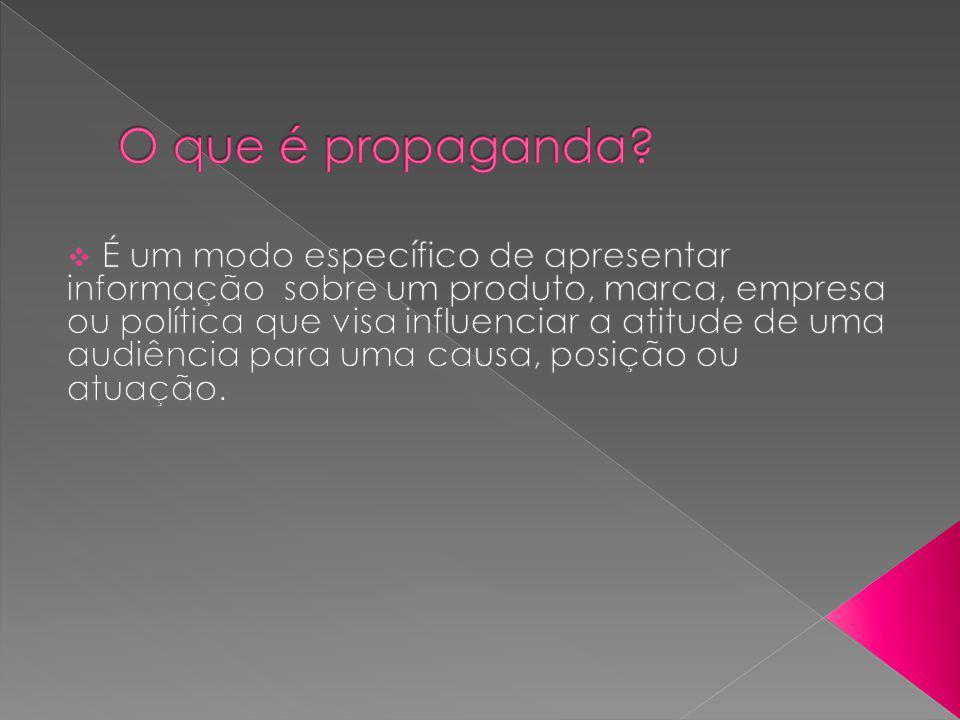 Utiliza os meios de comunicação e as ferramentas de marketing com a função de promover determinado produto.