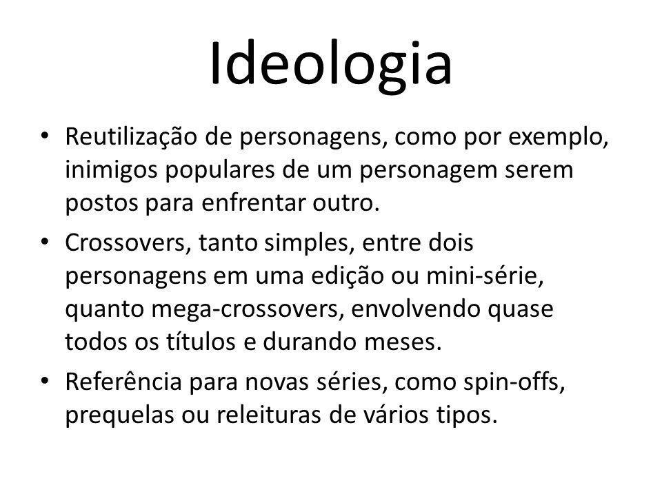 Ideologia Reutilização de personagens, como por exemplo, inimigos populares de um personagem serem postos para enfrentar outro.