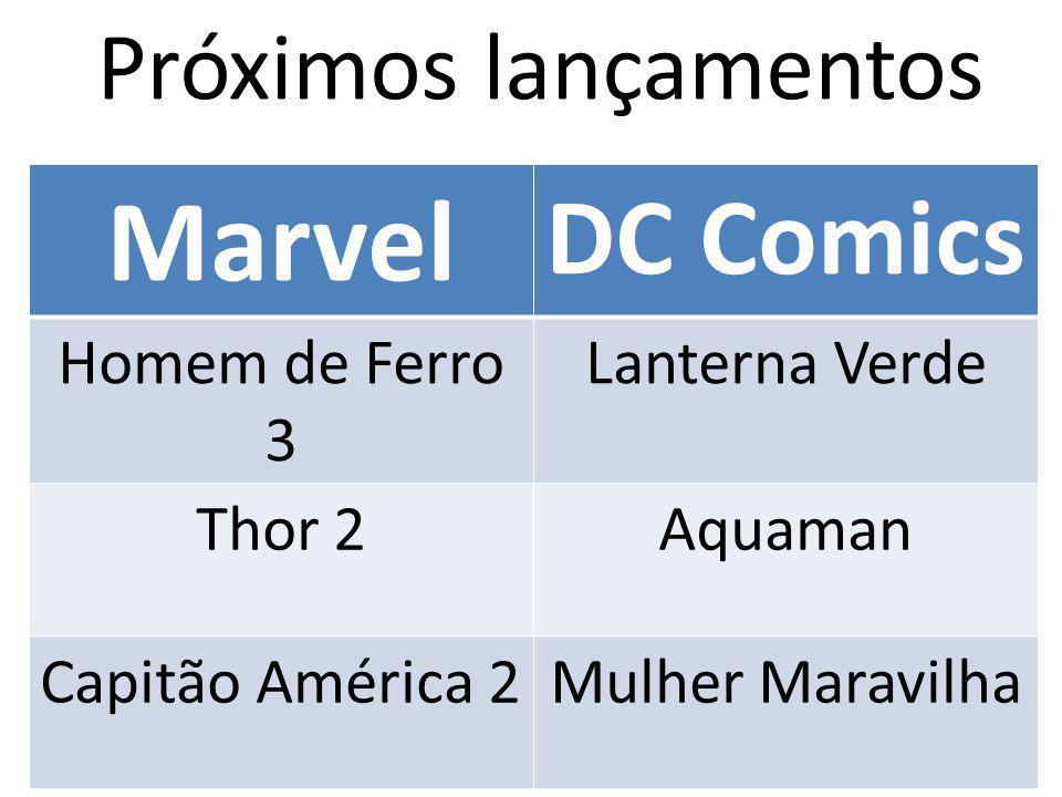 Próximos lançamentos Marvel DC Comics Homem de Ferro 3 Lanterna Verde Thor 2Aquaman Capitão América 2Mulher Maravilha