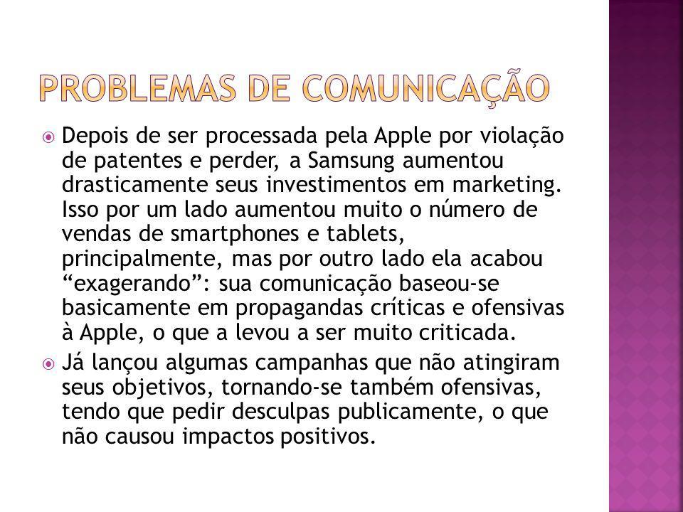 Depois de ser processada pela Apple por violação de patentes e perder, a Samsung aumentou drasticamente seus investimentos em marketing. Isso por um l