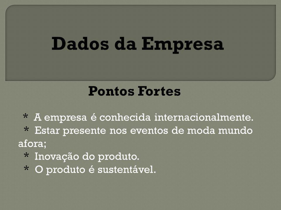 Pontos Fracos Concorrência A empresa não tem experiência no mercado de tênis.