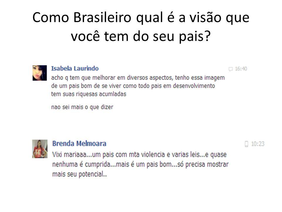 Como Brasileiro qual é a visão que você tem do seu pais?