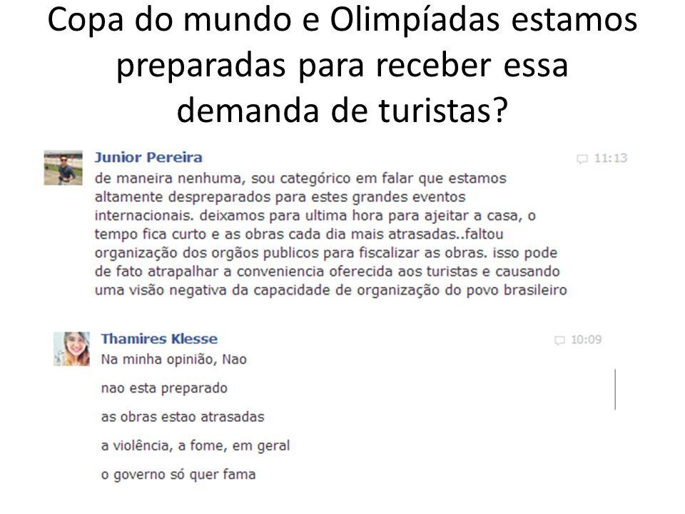 Copa do mundo e Olimpíadas estamos preparadas para receber essa demanda de turistas?