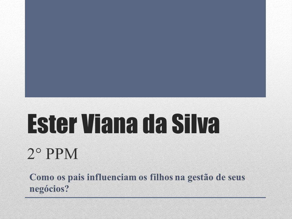 Ester Viana da Silva 2° PPM Como os pais influenciam os filhos na gestão de seus negócios?