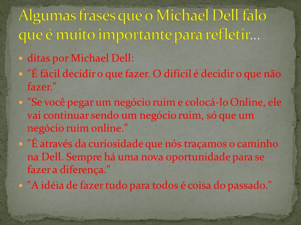 ditas por Michael Dell: