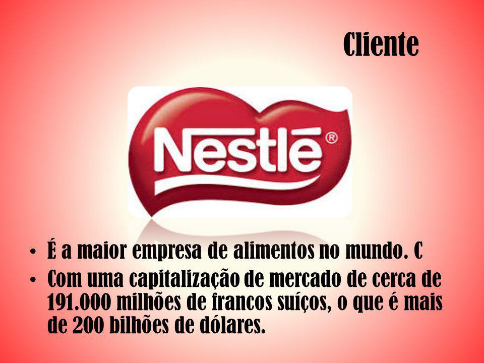 Cliente É a maior empresa de alimentos no mundo. C Com uma capitalização de mercado de cerca de 191.000 milhões de francos suíços, o que é mais de 200