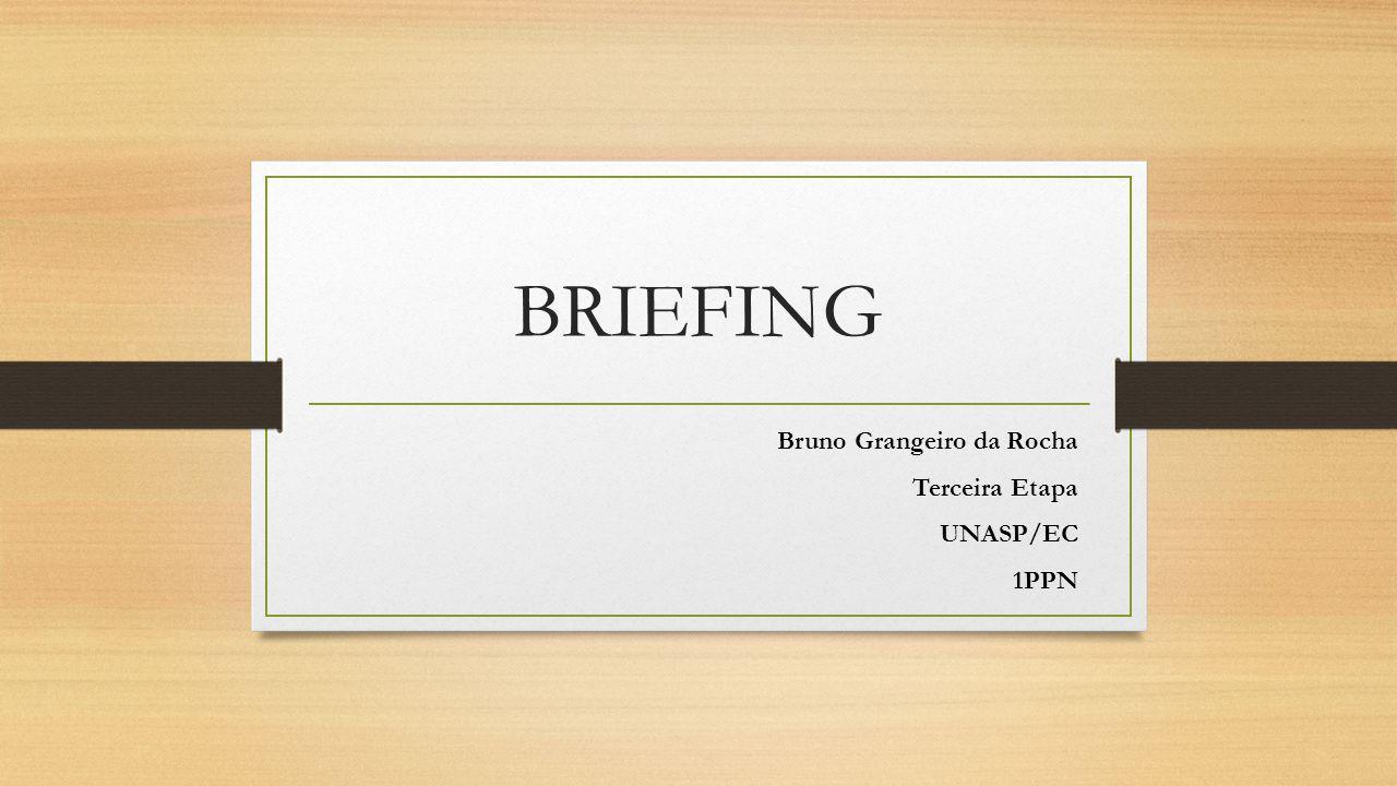 BRIEFING Bruno Grangeiro da Rocha Terceira Etapa UNASP/EC 1PPN