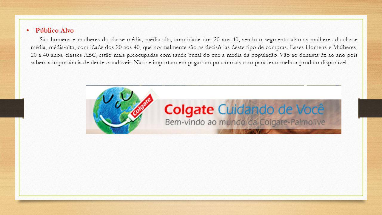 Nosso compromisso é garantir que os clientes confiem nos produtos da Colgate, em virtude da confiança, qualidade e desempenho superior.