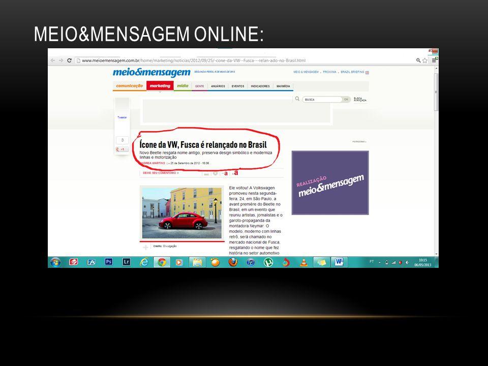 MEIO&MENSAGEM ONLINE: