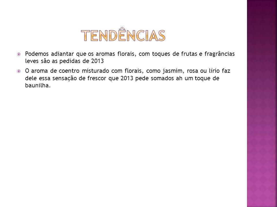 Tendência de mercado, Classe Média, Sofisticação, Tendências Fragrâncias mais aceitas no Brasil
