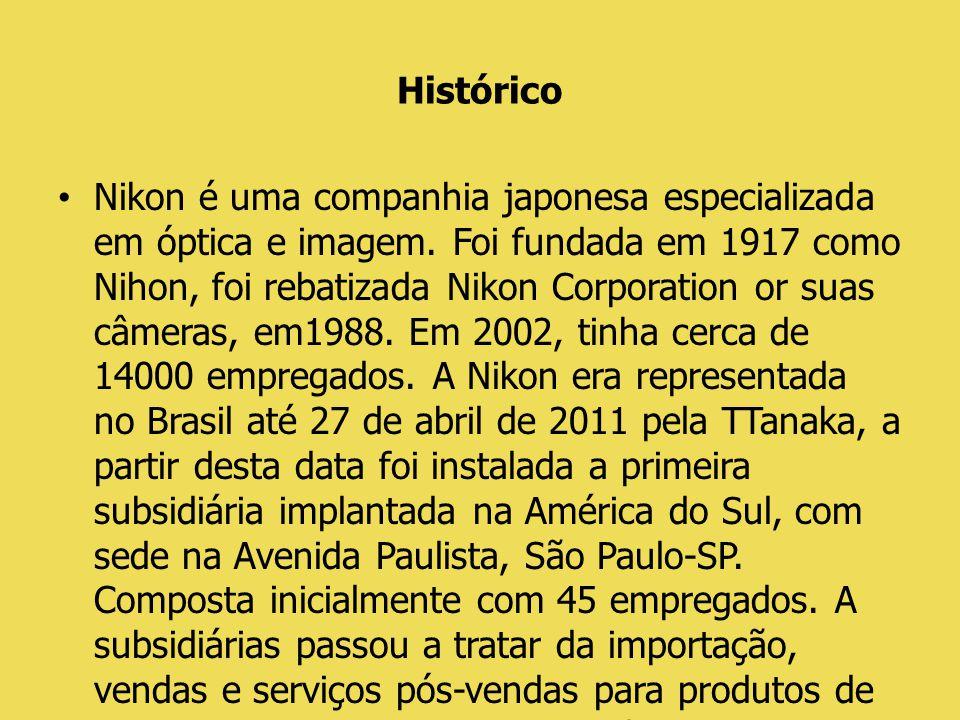 Briefing Cliente: Nikon Cenário: A Nikon no Brasil, está envolvida em equipamentos de precisão e instrumentos, mas principalmente em especialização de produtos de imagem.