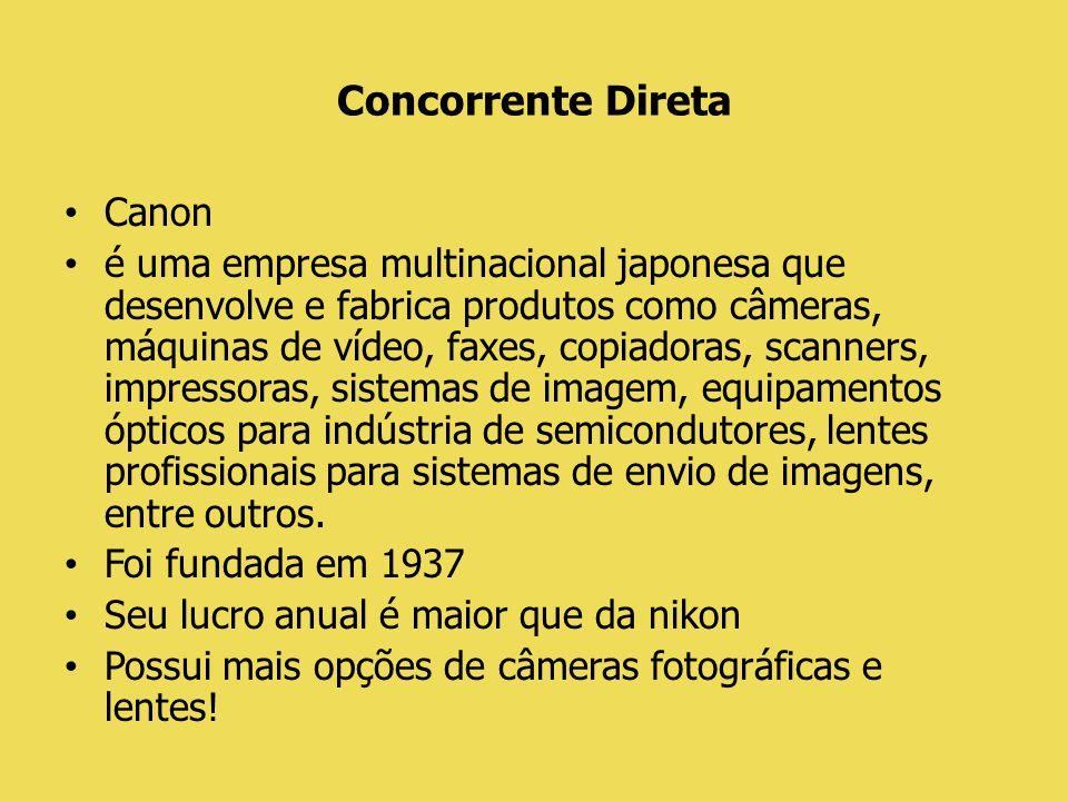 Planejamento História: Colocar papéis de parede nas lojas, onde as Câmeras Nikon são vendidas e colocar uma câmera à disposição das pessoas para que elas tirem 3 fotos (o que gerará ao cliente, uma experiência com o produto) e as envie para a fan page da Nikon Brasil, no facebook (para divulgação) e os 3 donos das fotografias mais criativas relacionadas a Copa do Mundo, ganhará a nova D7100 e um dia com o fotógrafo Luciano Candisani.