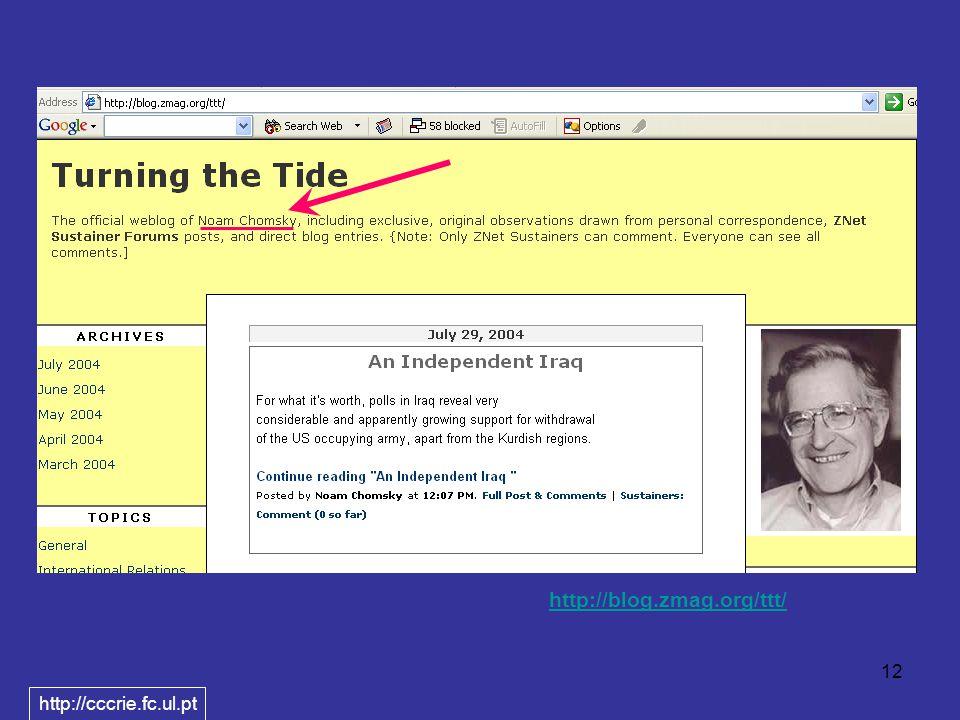 12 http://blog.zmag.org/ttt/ http://cccrie.fc.ul.pt