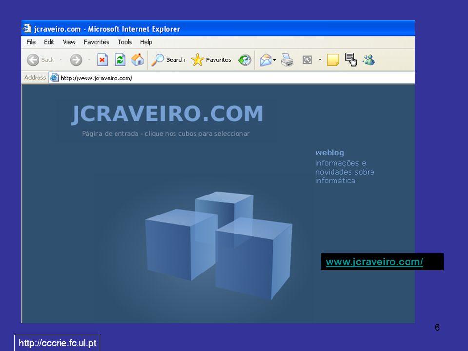 6 www.jcraveiro.com/ http://cccrie.fc.ul.pt