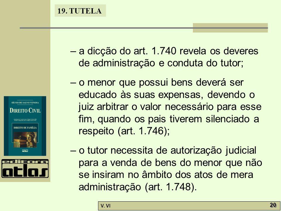 19.TUTELA V. VI 20 – a dicção do art.