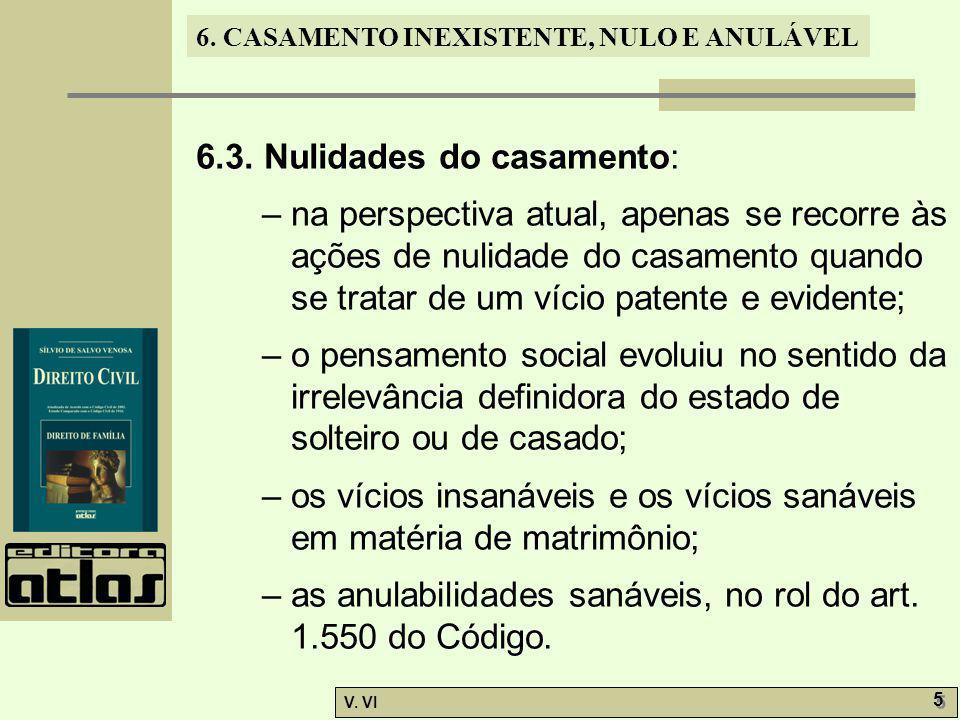 6.CASAMENTO INEXISTENTE, NULO E ANULÁVEL V. VI 16 6.4.5.