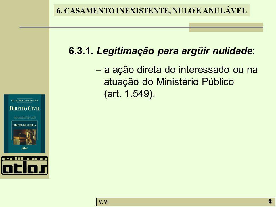 6.CASAMENTO INEXISTENTE, NULO E ANULÁVEL V. VI 7 7 6.3.2.
