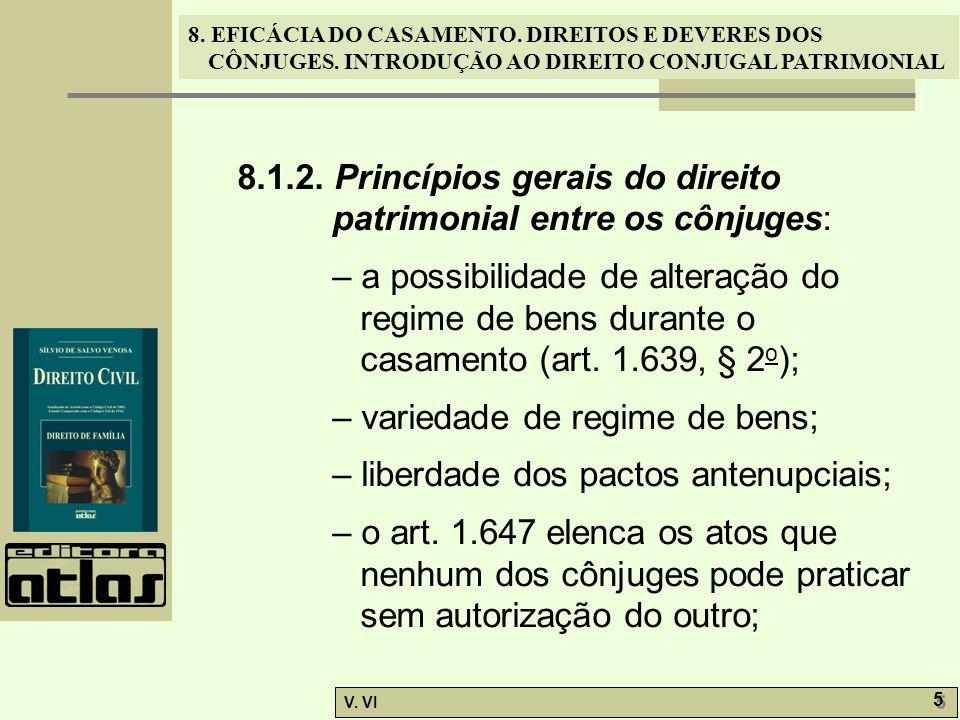 8. EFICÁCIA DO CASAMENTO. DIREITOS E DEVERES DOS CÔNJUGES. INTRODUÇÃO AO DIREITO CONJUGAL PATRIMONIAL V. VI 5 5 8.1.2. Princípios gerais do direito pa