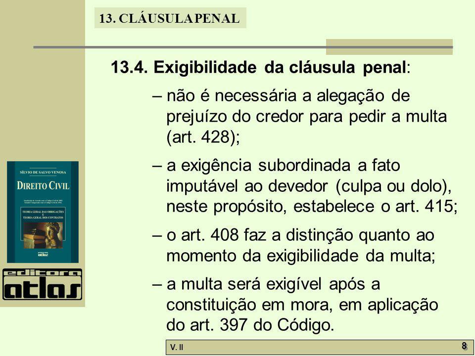 V.II 8 8 13. CLÁUSULA PENAL 13.4.