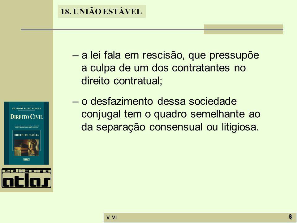 18.UNIÃO ESTÁVEL V. VI 9 9 18.6.