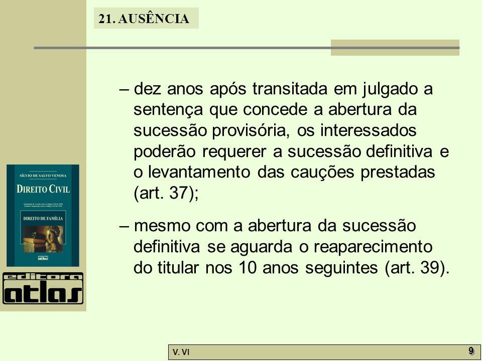 21.AUSÊNCIA V. VI 10 21.5.