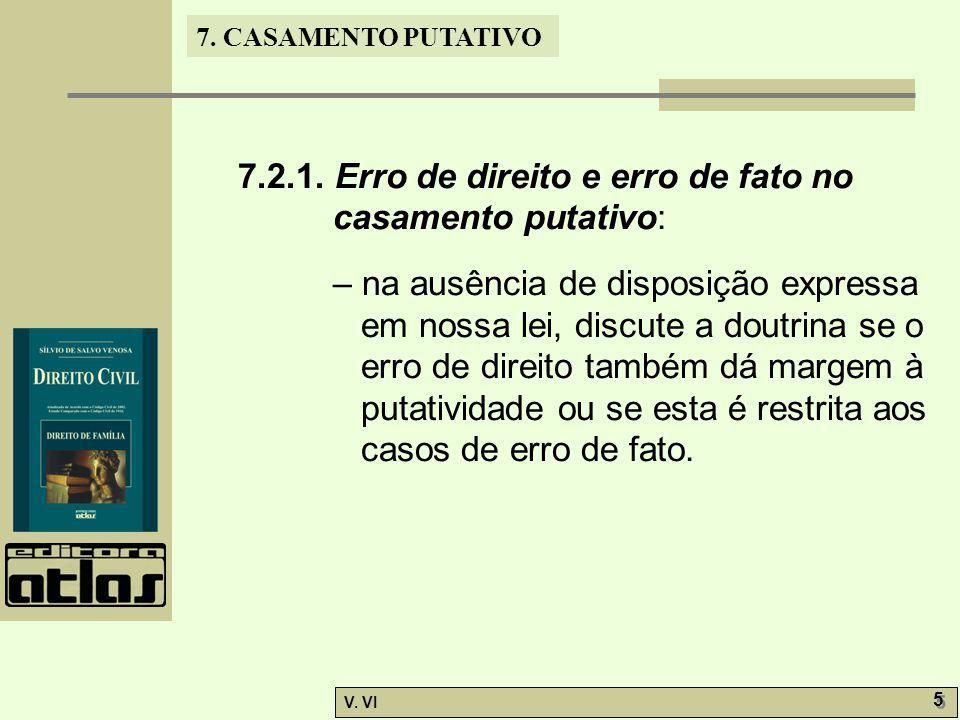 7.CASAMENTO PUTATIVO V. VI 5 5 7.2.1.