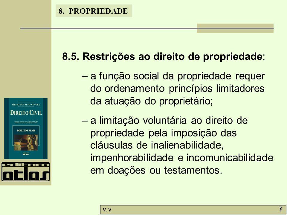 8. PROPRIEDADE V. V 7 7 8.5.