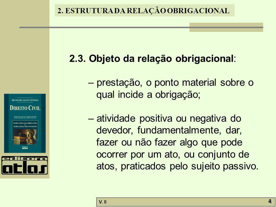 V.II 5 5 2. ESTRUTURA DA RELAÇÃO OBRIGACIONAL 2.3.1.