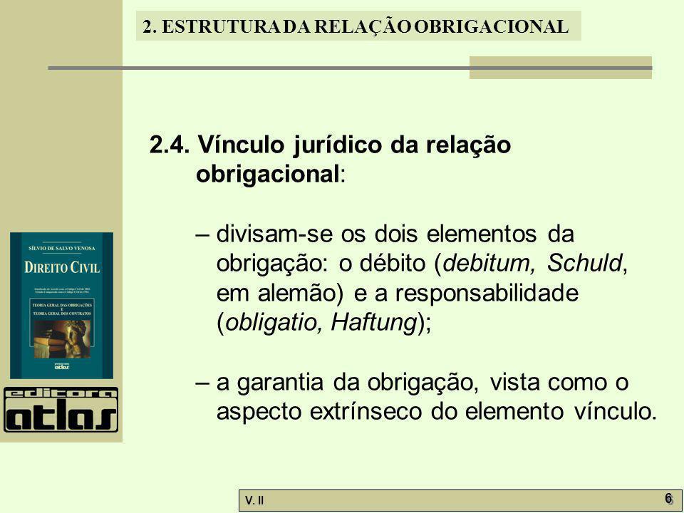 V.II 7 7 2. ESTRUTURA DA RELAÇÃO OBRIGACIONAL 2.5.