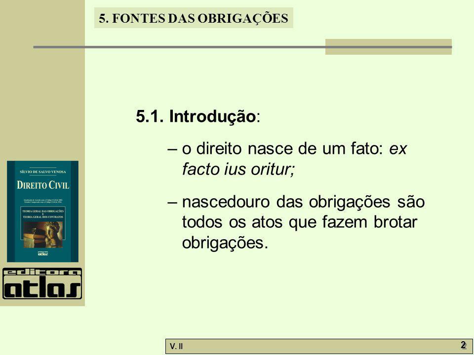 V.II 2 2 5. FONTES DAS OBRIGAÇÕES 5.1.