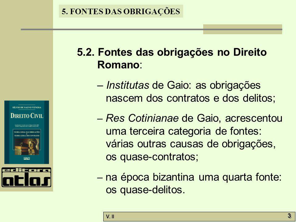 V.II 3 3 5. FONTES DAS OBRIGAÇÕES 5.2.