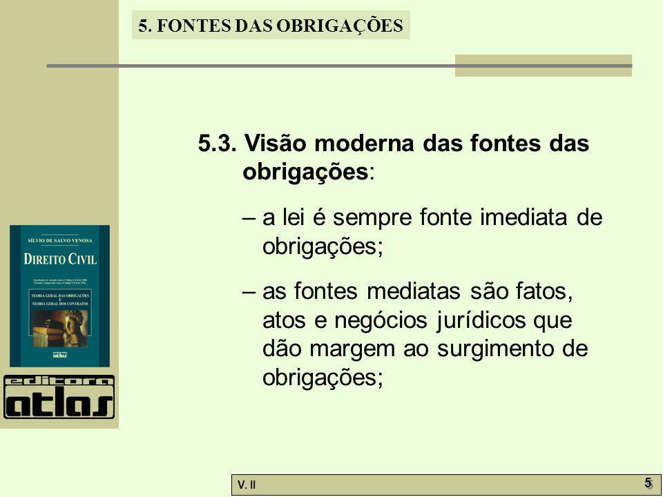 V.II 5 5 5. FONTES DAS OBRIGAÇÕES 5.3.
